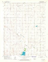 Wolf SW Kansas Historical topographic map, 1:24000 scale, 7.5 X 7.5 Minute, Year 1966