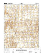 Woods Kansas Current topographic map, 1:24000 scale, 7.5 X 7.5 Minute, Year 2015 from Kansas Map Store