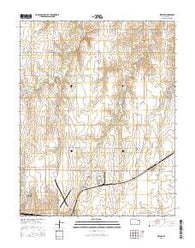 Wright Kansas Current topographic map, 1:24000 scale, 7.5 X 7.5 Minute, Year 2016