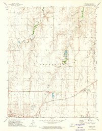 Wright Kansas Historical topographic map, 1:24000 scale, 7.5 X 7.5 Minute, Year 1972