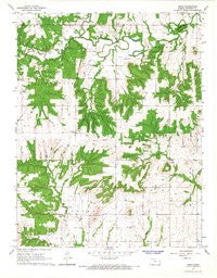 Xenia Kansas Historical topographic map, 1:24000 scale, 7.5 X 7.5 Minute, Year 1966