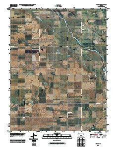 Yaggy Kansas Historical topographic map, 1:24000 scale, 7.5 X 7.5 Minute, Year 2009