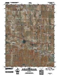 Yocemento Kansas Historical topographic map, 1:24000 scale, 7.5 X 7.5 Minute, Year 2009