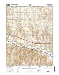 Yocemento Kansas Current topographic map, 1:24000 scale, 7.5 X 7.5 Minute, Year 2016