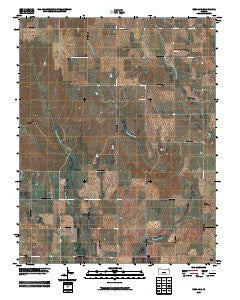 Zenda SE Kansas Historical topographic map, 1:24000 scale, 7.5 X 7.5 Minute, Year 2009
