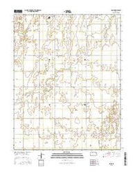 Zook Kansas Current topographic map, 1:24000 scale, 7.5 X 7.5 Minute, Year 2016
