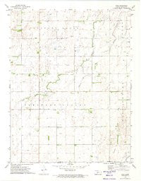 Zook Kansas Historical topographic map, 1:24000 scale, 7.5 X 7.5 Minute, Year 1972