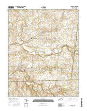 Adairville Kentucky Current topographic map, 1:24000 scale, 7.5 X 7.5 Minute, Year 2016 from Kentucky Maps Store