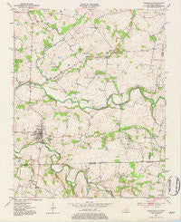 Adairville Kentucky Historical topographic map, 1:24000 scale, 7.5 X 7.5 Minute, Year 1951