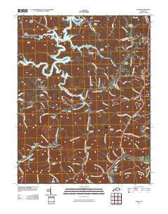 Adams Kentucky Historical topographic map, 1:24000 scale, 7.5 X 7.5 Minute, Year 2010