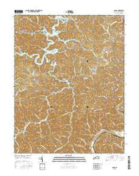 Adams Kentucky Current topographic map, 1:24000 scale, 7.5 X 7.5 Minute, Year 2016