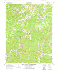Adams Kentucky Historical topographic map, 1:24000 scale, 7.5 X 7.5 Minute, Year 1971