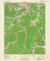 Adams Kentucky Historical topographic map, 1:24000 scale, 7.5 X 7.5 Minute, Year 1953
