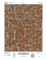 Adolphus Kentucky Historical topographic map, 1:24000 scale, 7.5 X 7.5 Minute, Year 2010