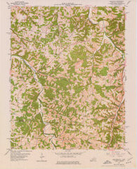 Adolphus Kentucky Historical topographic map, 1:24000 scale, 7.5 X 7.5 Minute, Year 1954