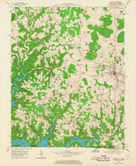 Albany Kentucky Historical topographic map, 1:24000 scale, 7.5 X 7.5 Minute, Year 1954