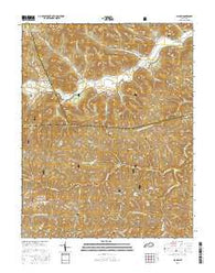 Alcorn Kentucky Current topographic map, 1:24000 scale, 7.5 X 7.5 Minute, Year 2016