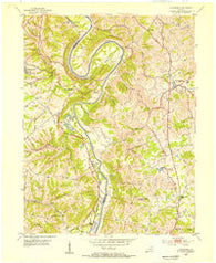 Alexandria Kentucky Historical topographic map, 1:24000 scale, 7.5 X 7.5 Minute, Year 1953