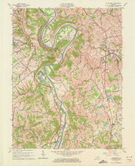 Alexandria Kentucky Historical topographic map, 1:24000 scale, 7.5 X 7.5 Minute, Year 1961