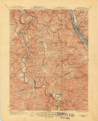 Alexandria Kentucky Historical topographic map, 1:62500 scale, 15 X 15 Minute, Year 1936
