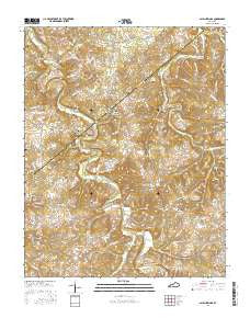 Allen Springs Kentucky Current topographic map, 1:24000 scale, 7.5 X 7.5 Minute, Year 2016