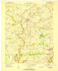 Allensville Kentucky Historical topographic map, 1:24000 scale, 7.5 X 7.5 Minute, Year 1950