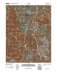 Alton Station Kentucky Historical topographic map, 1:24000 scale, 7.5 X 7.5 Minute, Year 2010