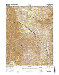 Alton Station Kentucky Current topographic map, 1:24000 scale, 7.5 X 7.5 Minute, Year 2016