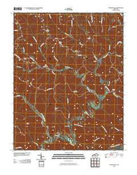 Amandaville Kentucky Historical topographic map, 1:24000 scale, 7.5 X 7.5 Minute, Year 2010