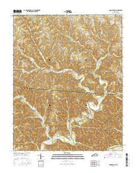 Amandaville Kentucky Current topographic map, 1:24000 scale, 7.5 X 7.5 Minute, Year 2016