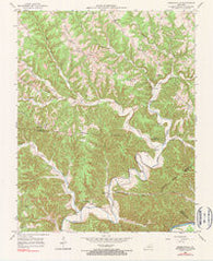 Amandaville Kentucky Historical topographic map, 1:24000 scale, 7.5 X 7.5 Minute, Year 1953