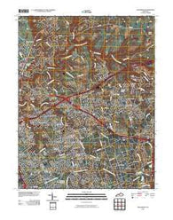 Anchorage Kentucky Historical topographic map, 1:24000 scale, 7.5 X 7.5 Minute, Year 2010