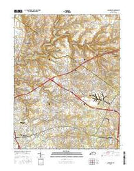 Anchorage Kentucky Current topographic map, 1:24000 scale, 7.5 X 7.5 Minute, Year 2016