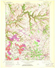 Anchorage Kentucky Historical topographic map, 1:24000 scale, 7.5 X 7.5 Minute, Year 1965