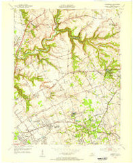 Anchorage Kentucky Historical topographic map, 1:24000 scale, 7.5 X 7.5 Minute, Year 1955