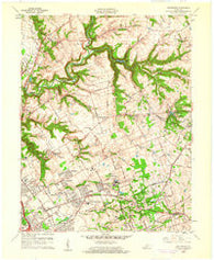 Anchorage Kentucky Historical topographic map, 1:24000 scale, 7.5 X 7.5 Minute, Year 1960