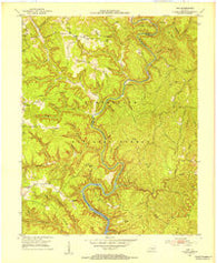 Ano Kentucky Historical topographic map, 1:24000 scale, 7.5 X 7.5 Minute, Year 1952