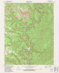 Ano Kentucky Historical topographic map, 1:24000 scale, 7.5 X 7.5 Minute, Year 1979