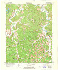 Argillite Kentucky Historical topographic map, 1:24000 scale, 7.5 X 7.5 Minute, Year 1972