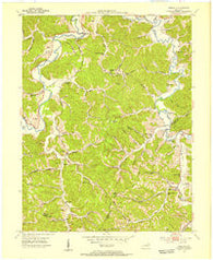 Argillite Kentucky Historical topographic map, 1:24000 scale, 7.5 X 7.5 Minute, Year 1953