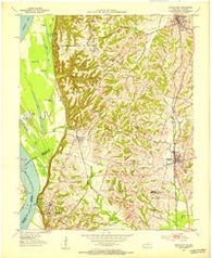Arlington Kentucky Historical topographic map, 1:24000 scale, 7.5 X 7.5 Minute, Year 1951