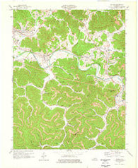 Artemus Kentucky Historical topographic map, 1:24000 scale, 7.5 X 7.5 Minute, Year 1974
