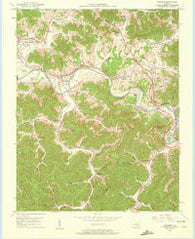 Artemus Kentucky Historical topographic map, 1:24000 scale, 7.5 X 7.5 Minute, Year 1952