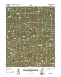 Ashbrook Kentucky Historical topographic map, 1:24000 scale, 7.5 X 7.5 Minute, Year 2013