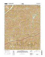 Ashbrook Kentucky Current topographic map, 1:24000 scale, 7.5 X 7.5 Minute, Year 2016 from Kentucky Map Store