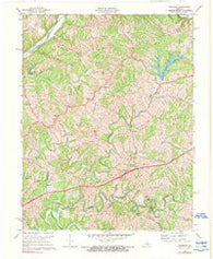 Ashbrook Kentucky Historical topographic map, 1:24000 scale, 7.5 X 7.5 Minute, Year 1972