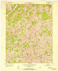 Ashbrook Kentucky Historical topographic map, 1:24000 scale, 7.5 X 7.5 Minute, Year 1952