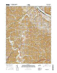 Ashland Kentucky Current topographic map, 1:24000 scale, 7.5 X 7.5 Minute, Year 2016