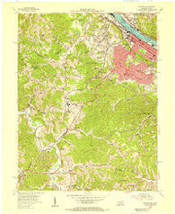 Ashland Kentucky Historical topographic map, 1:24000 scale, 7.5 X 7.5 Minute, Year 1953