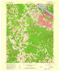 Ashland Kentucky Historical topographic map, 1:24000 scale, 7.5 X 7.5 Minute, Year 1958